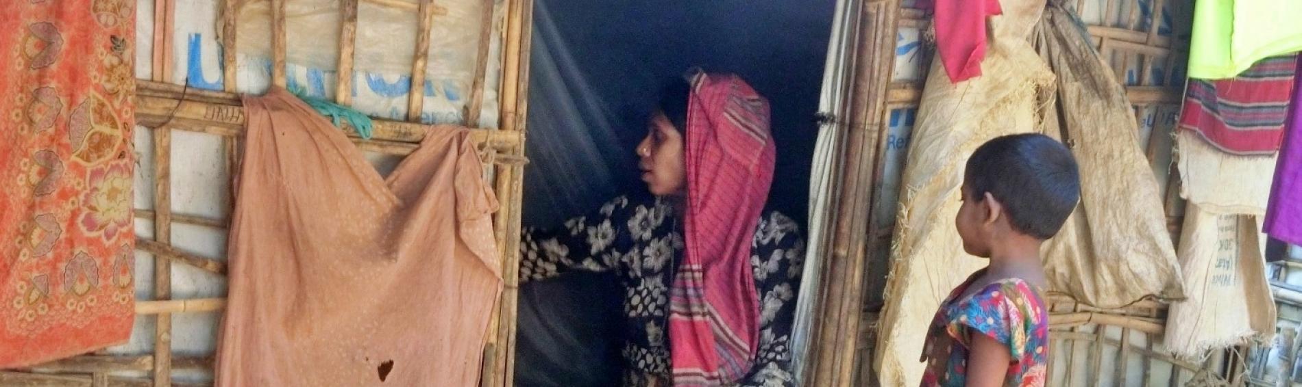 Hütte im Flüchtlingslager Kutupalong, in Bangladesch