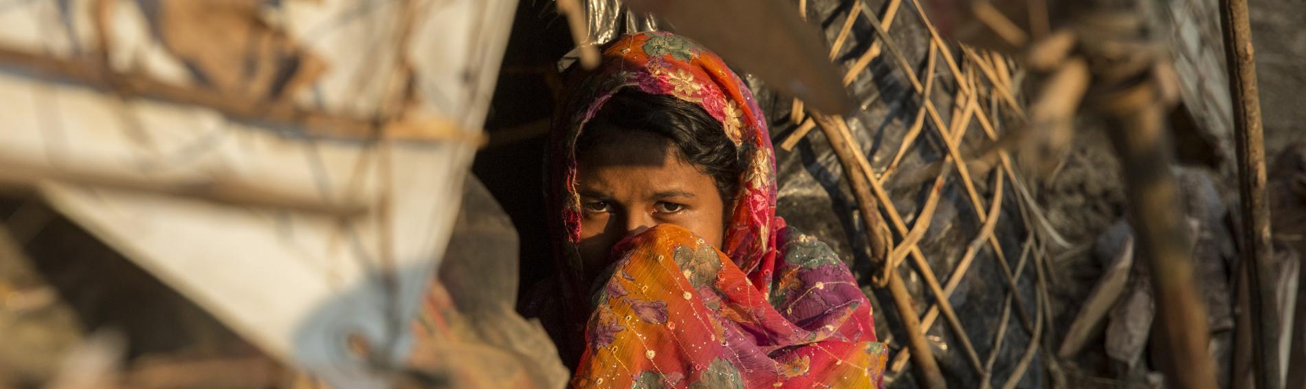 Geflüchtetes Kind in Bangladesch. Foto: Arnaud Finistre