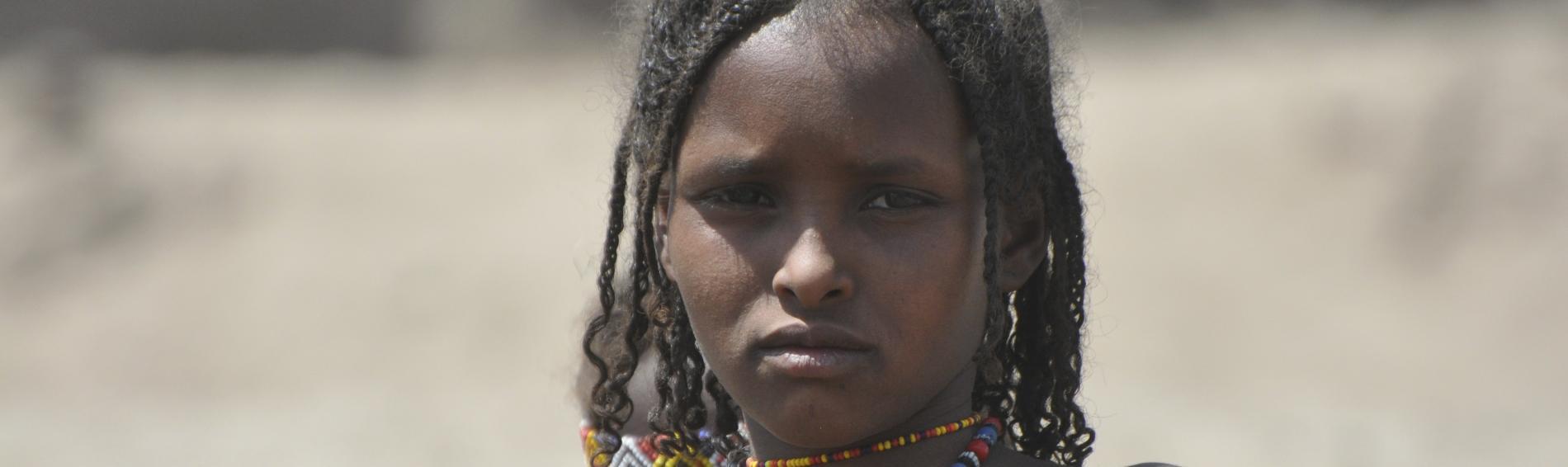 Ein Afar Mädchen in Äthiopien. Foto: Hagmann