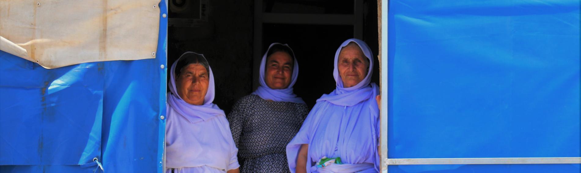 Frauen im Flüchtlingscamp im Irak. Foto: Ärzte der Welt