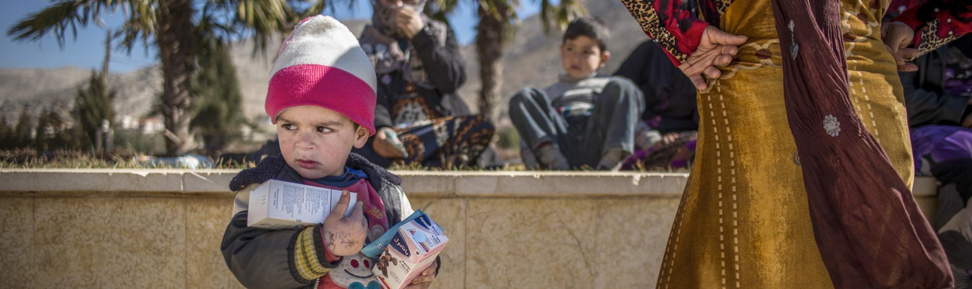 Mit mobilen Kliniken erreicht Ärzte der Welt auch die Bekaa-Ebene. Foto: Olivier Papegnies
