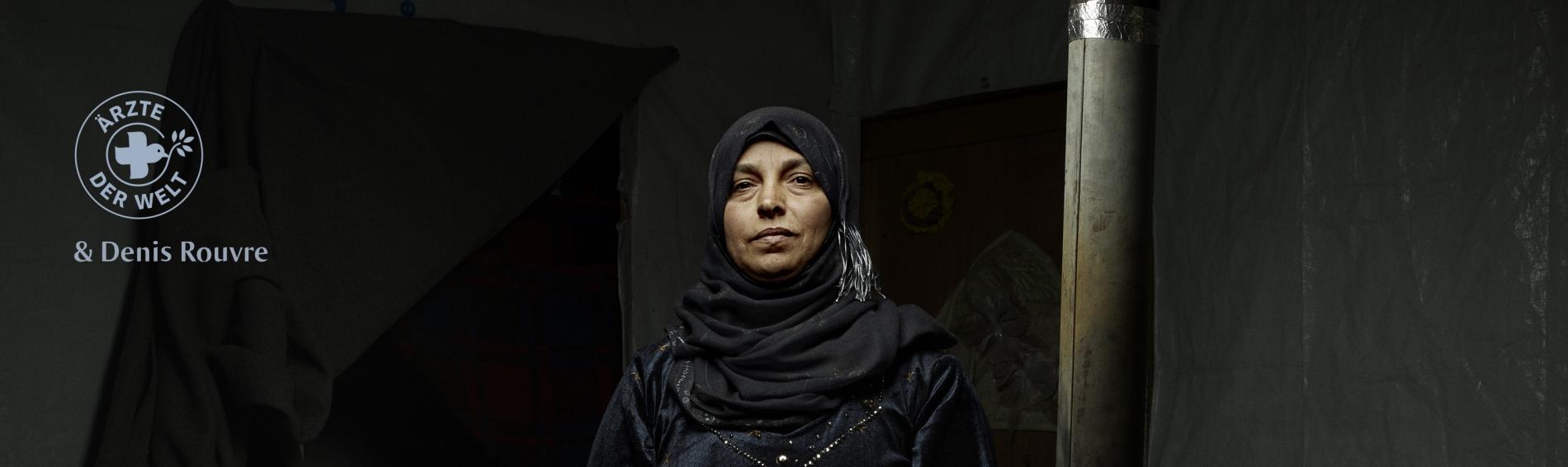 """""""Ich nehme all meinen Mut, meine Kraft und meine Entschlossenheit zusammen, wenn ich etwas zu sagen habe, und sage es. Ich möchte nicht still halten, sondern für meine Rechte einstehen."""" Rajwa Mohamad Rahmoun ist mit ihren Kindern aus Syrien in den Libano"""