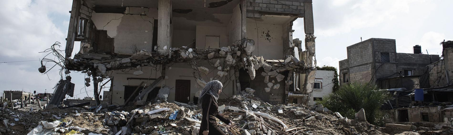 Ein zerstörtes Haus in Gaza. Foto: Alessio Romenzi