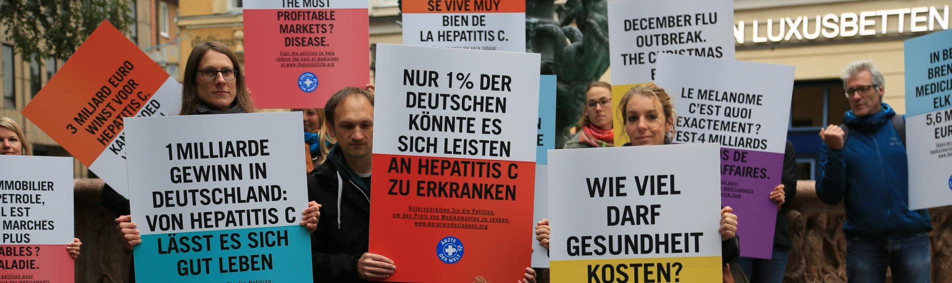 Das Hepatitis C-Medikament Sofosbuvir kann je nach Land bis zu 55.000 Euro kosten.