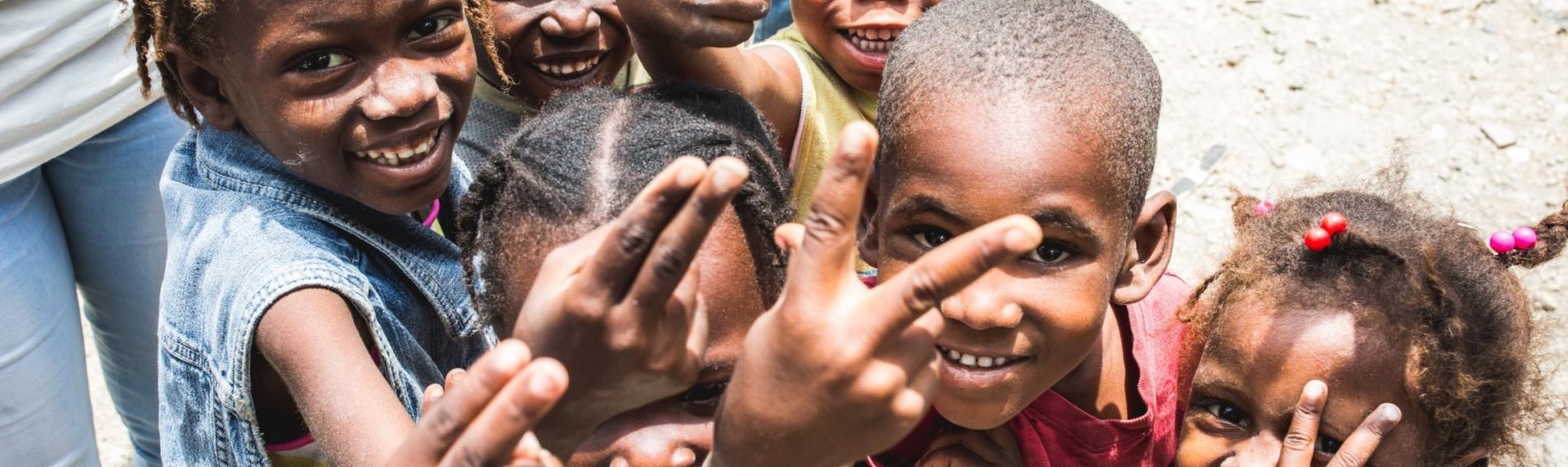 Kindergruppe in Haiti  Foto: Ärzte der Welt