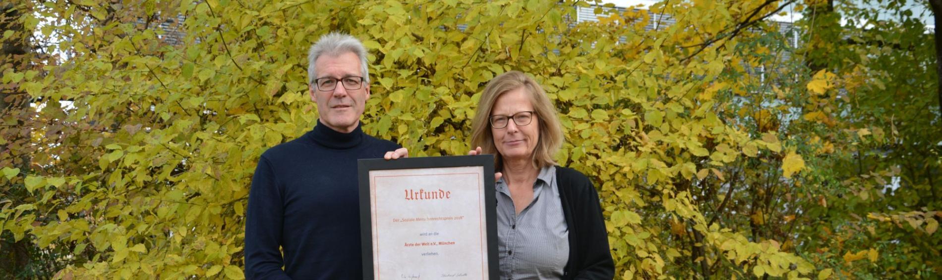 Ärzte der Welt hat Menschenrechtspreis erhalten. Foto: Ärzte der Welt
