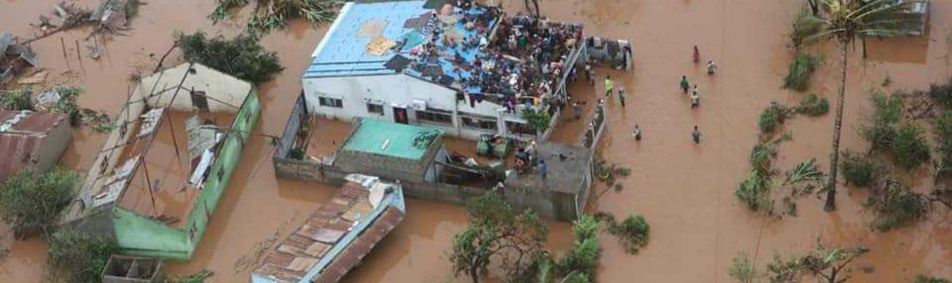 Überflutungen in Mosambik nach Wirbelsturm Idai