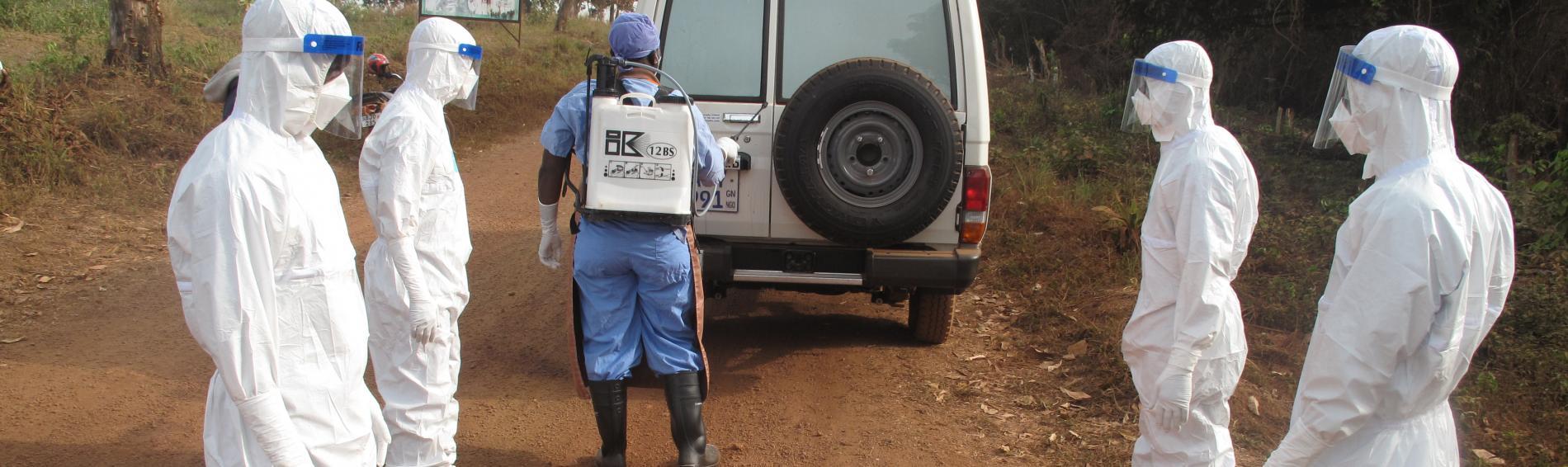 Ein Ebola Behandlungszentrum in Sierra Leone