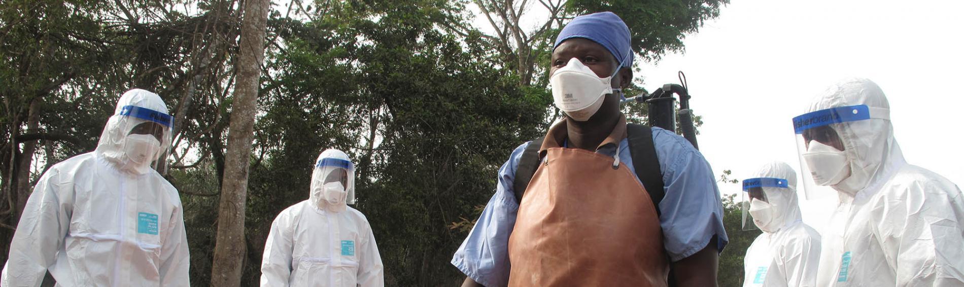 Desinfektion ist eine wichtige Maßnahme gegen die Ausbreitung der Ebola. Foto: Nick Harvey