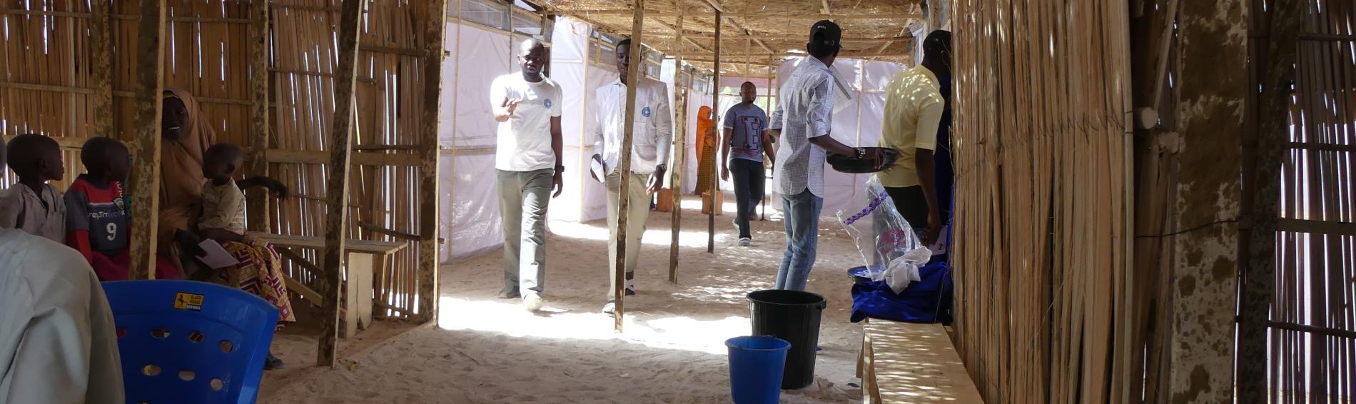 Medizinisches Personal im Nordosten Nigerias. Foto: Ärzte der Welt