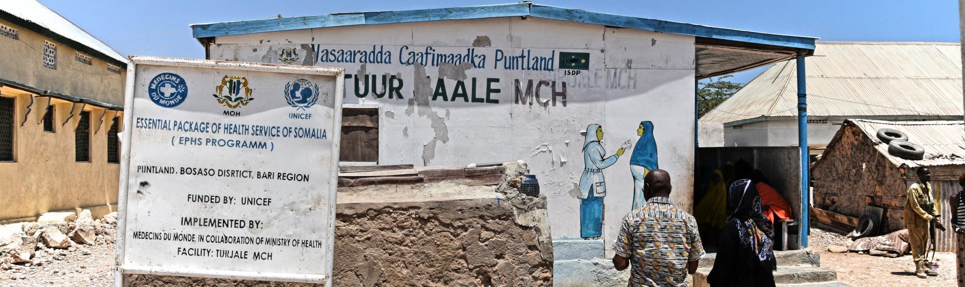 Ein Behandlungszentrum in Somalia. Foto: Jelle Boone