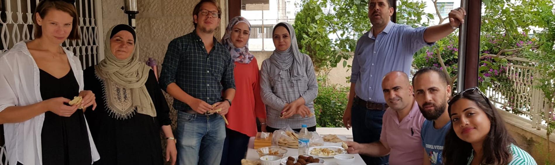 Abschied vom Team in Nablus