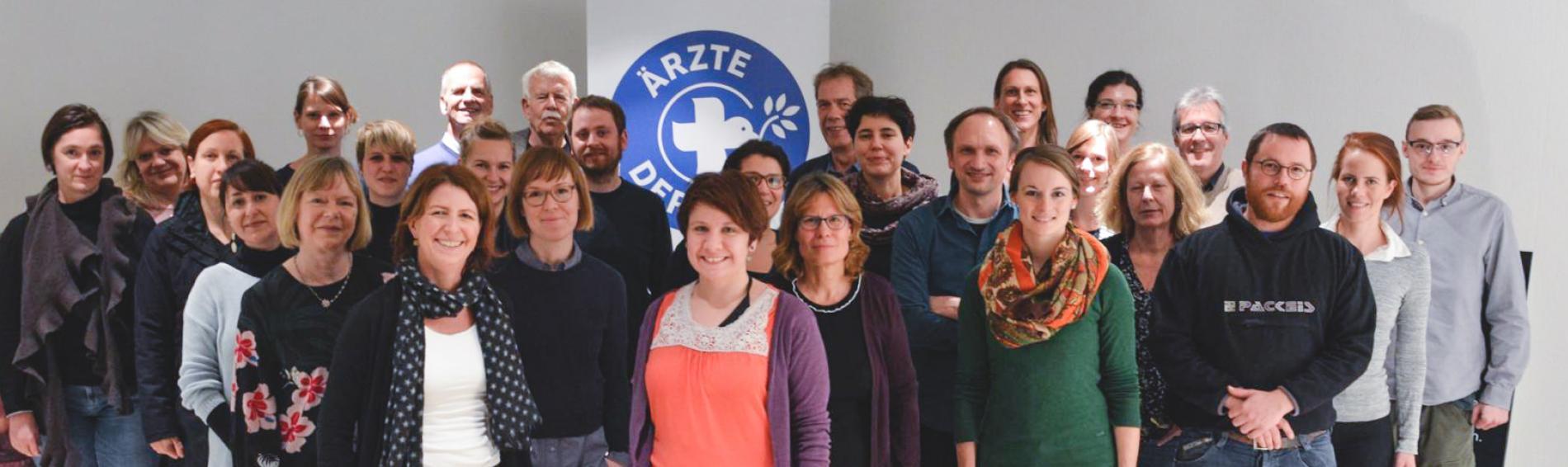 Gruppenbild Ärzte der Welt-Mitarbeiter