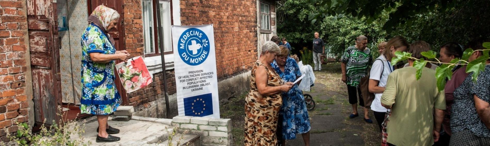 Gerade ältere Patienten sind auf die medizinische Hilfe von Ärzte der Welt angewiesen. Foto: Evgeniy Maloletka