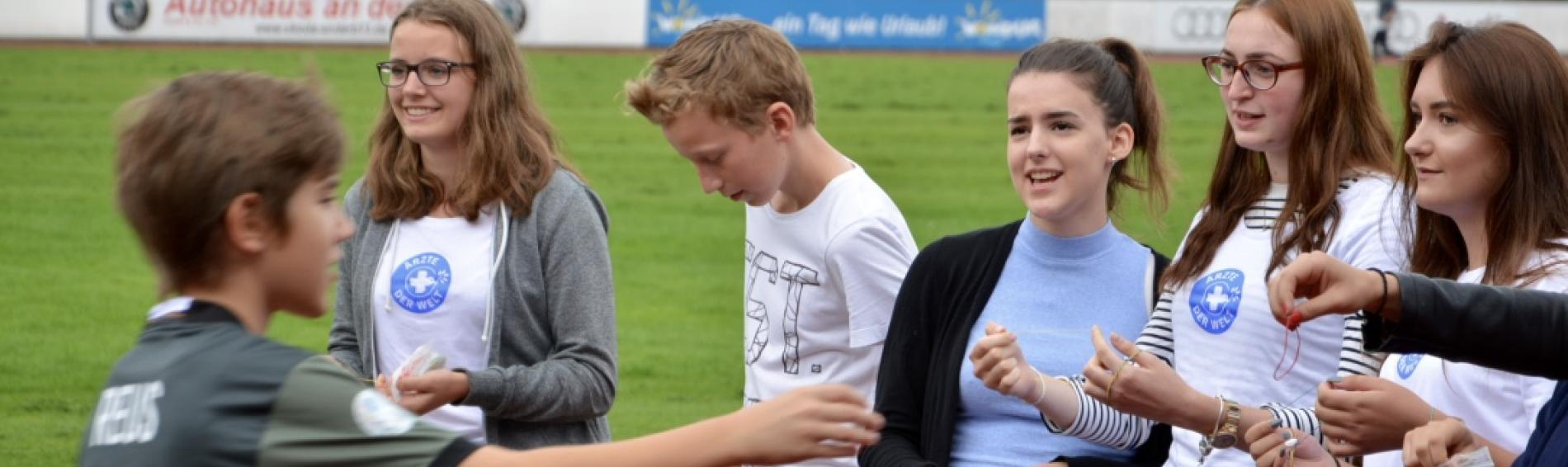 Spendenlauf an der Freiherr-von-Ickstatt-Realschule. Foto: Ärzte der Welt