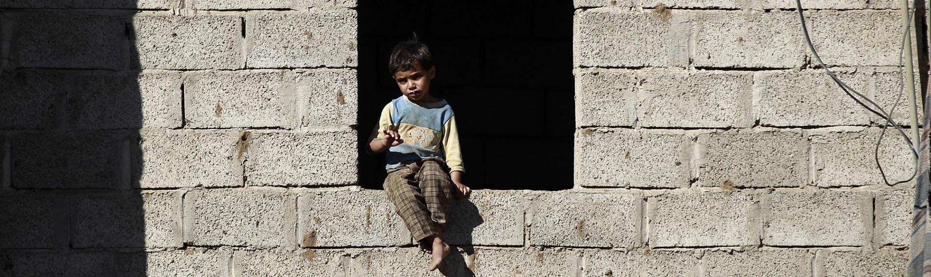 Kleiner Junge im Jemen