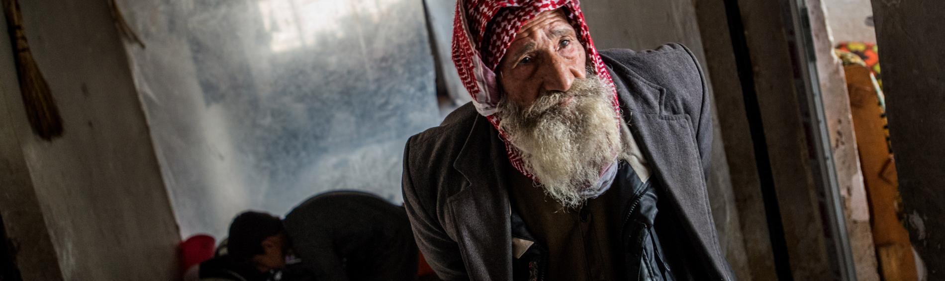Ein älterer Bewohner im Dorf Bamerni, Distrikt Amedi. Foto: Guillaume Pinon