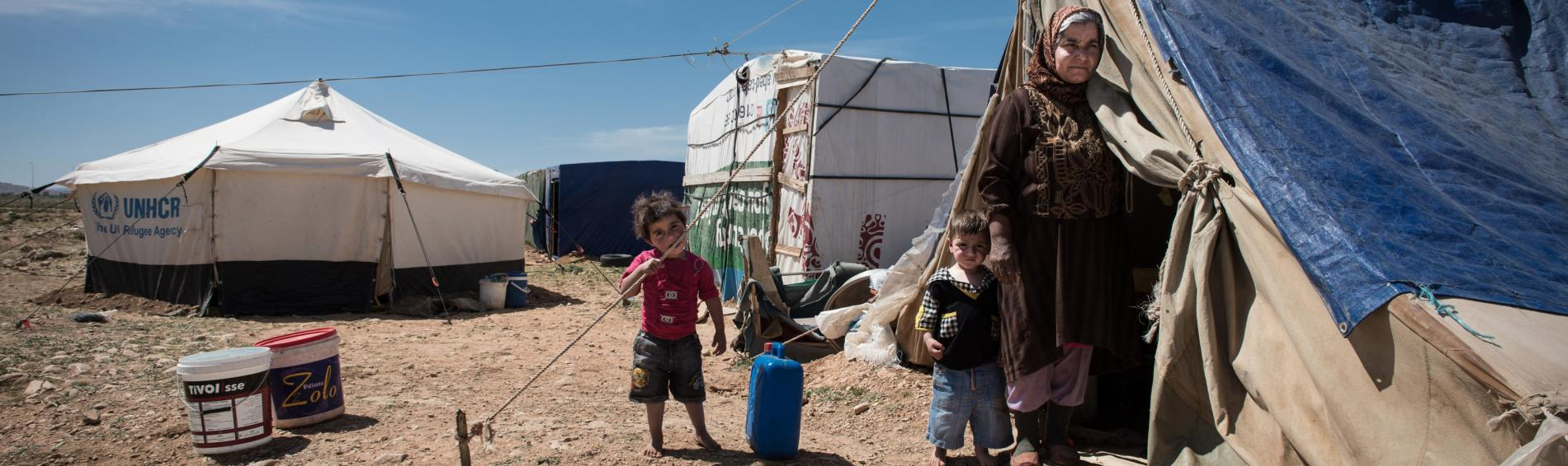 Das Flüchtlingslager in der Bekaa-Ebene. Foto:Guillaume Pinon