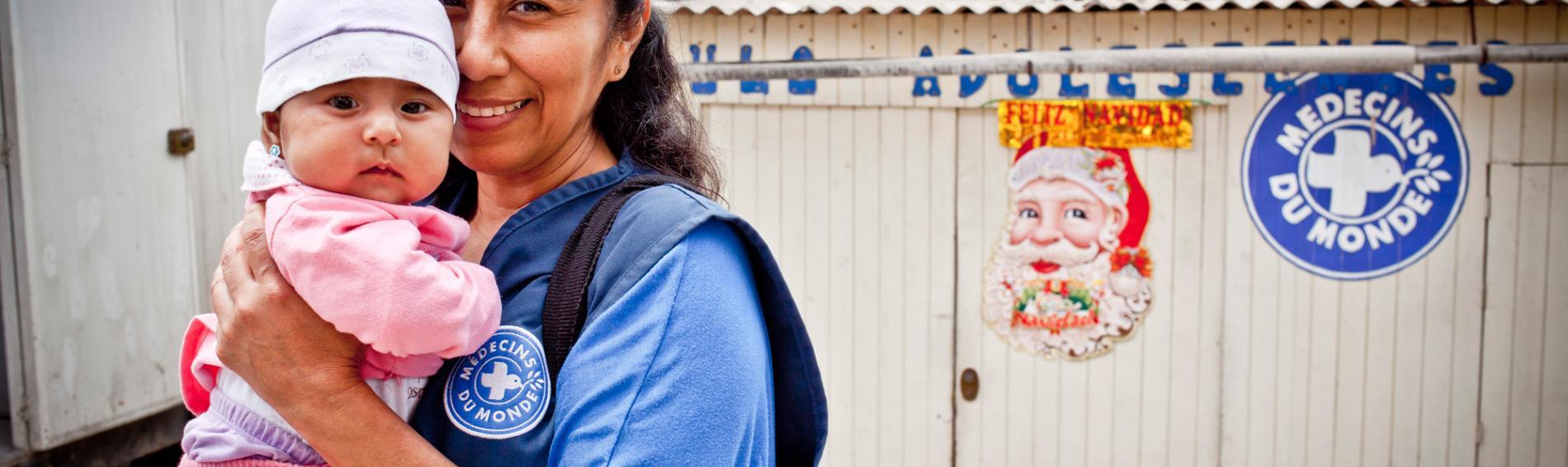 Peru, Ärzte der Welt leistet medizinische Hilfe für schwangerer Frauen. Foto: Nicolas Moulard