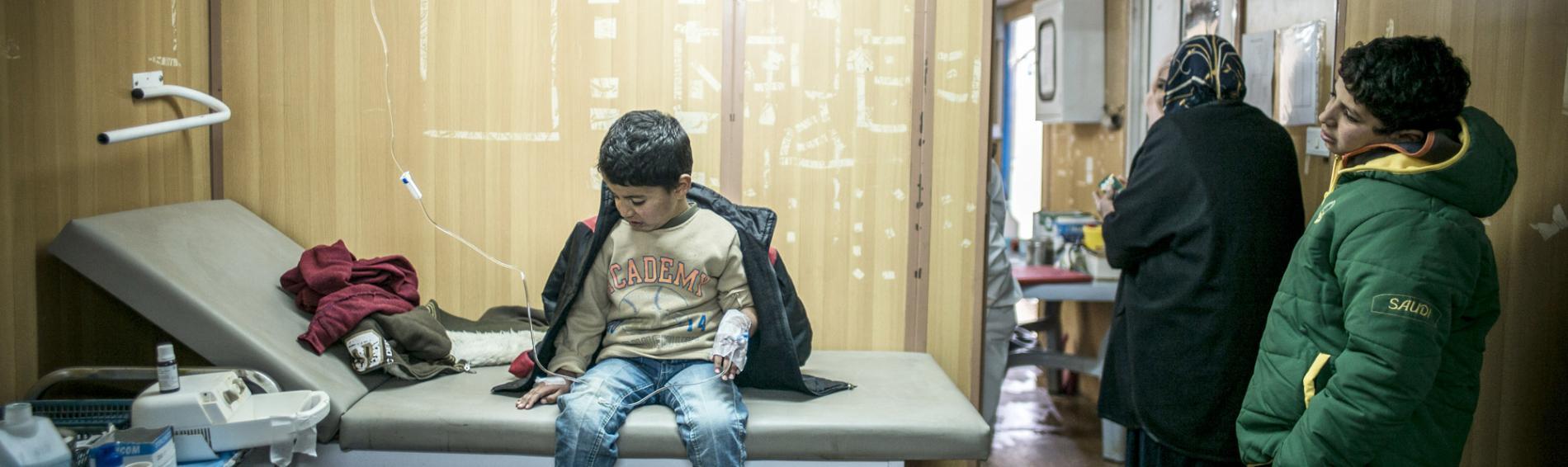 Medizinische Konsultationen im Zaatari Camp. Foto: Olivier Papegnies