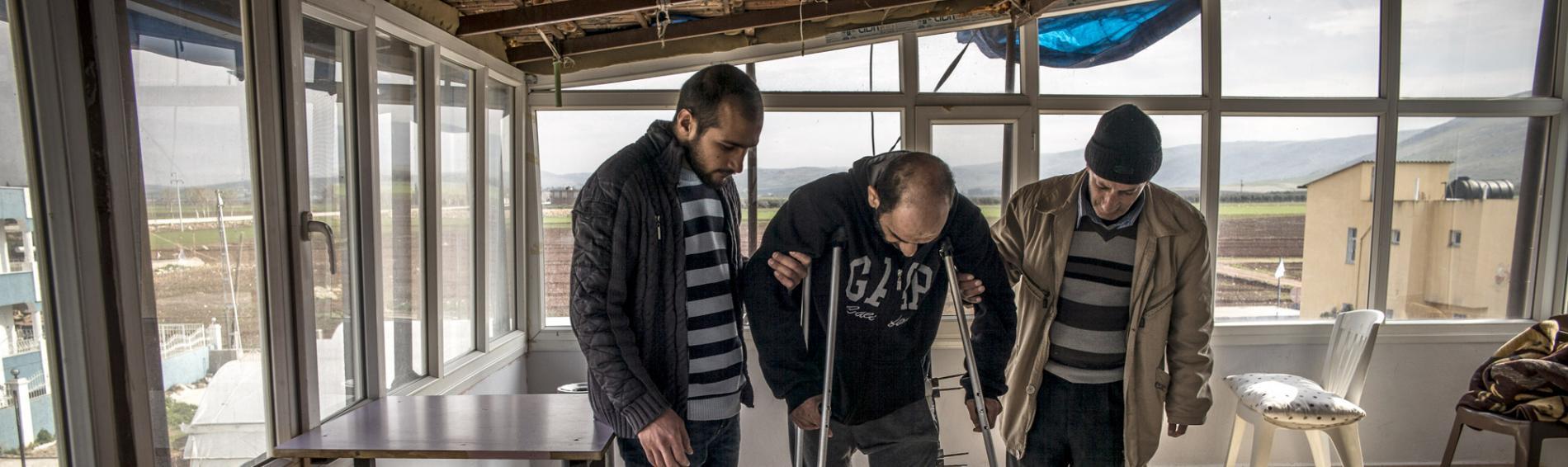 Ein Nachsorgezentrum in Reyhanli, welches von Ärzte der Welt unterstützt wird. Foto: Olivier Papegnies