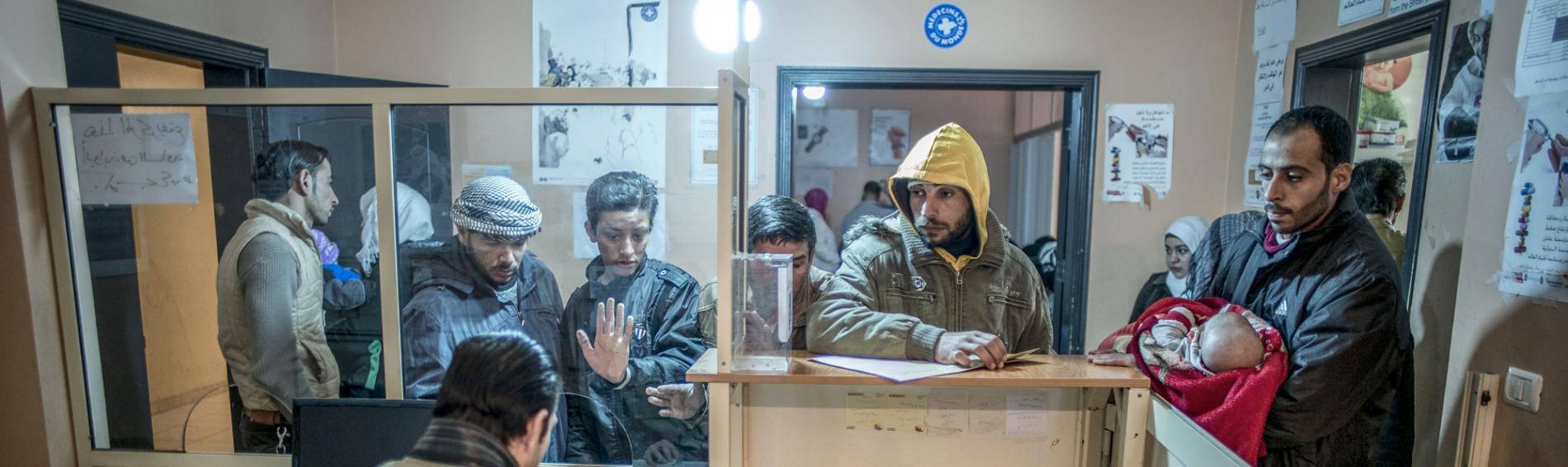 Das Aufnahmezentrum von Ärzte der Welt in Kamed El-Loz, in der Bekaa-Ebene. Foto: Olivier Papegnies