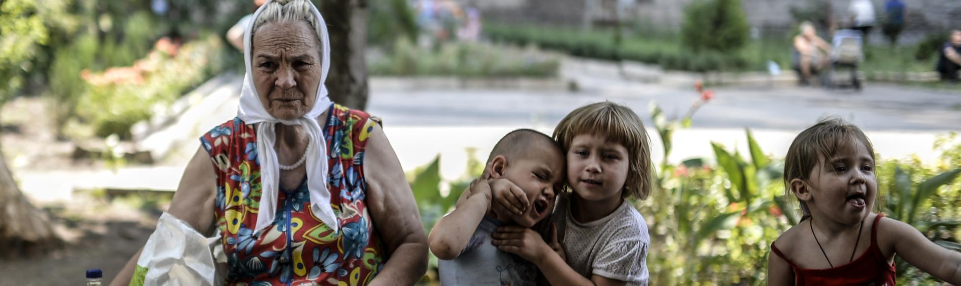 Hilfsbedürftige in der Ukraine. Foto: Ärzte der Welt