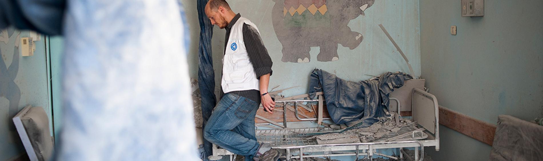 Zerstörtes Krankenhaus in Gaza. Foto: Ärzte der Welt