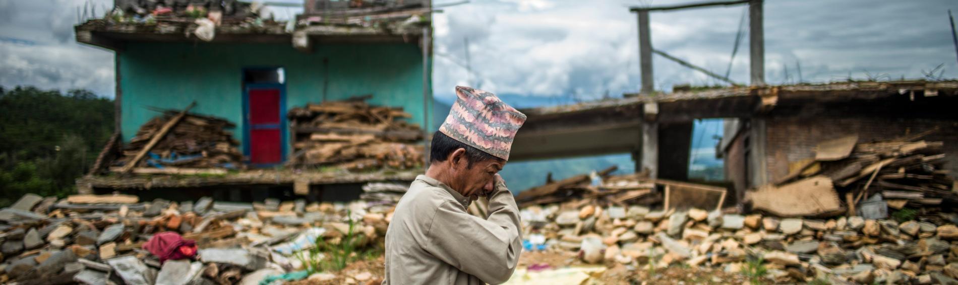 Opfer von Krisen und Konflikten. Foto: Olivier Papegnies