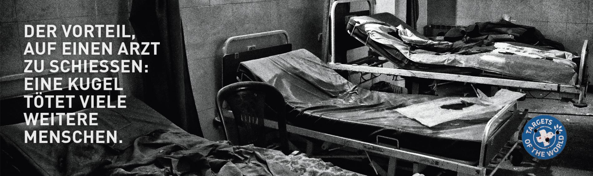 Der Vorteil, auf einen Arzt zu schiessen: Eine Kugel tötet viele weitere Menschen. Targets of the World