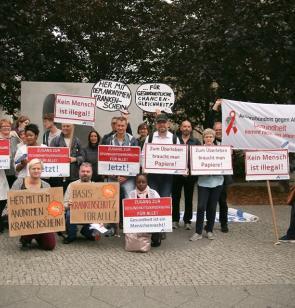 Aktion HIV und Migration in Berlin. Foto: Ärzte der Welt