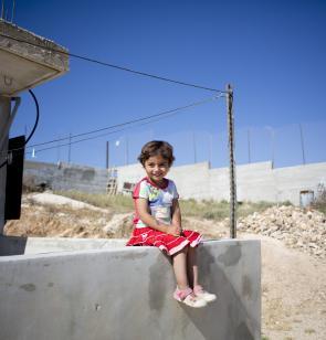 Mädchen in Palästina. Foto: Bruno Fert