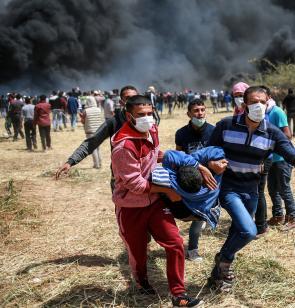 Verletzter bei Protesten in Gaza